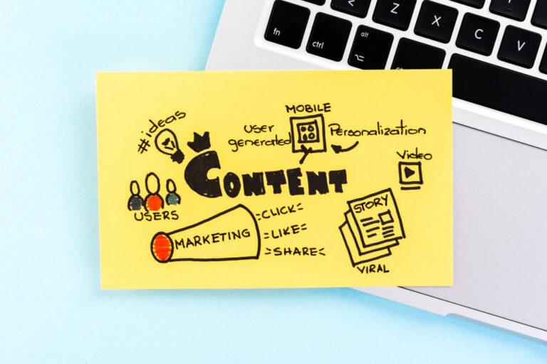 Content Management concept