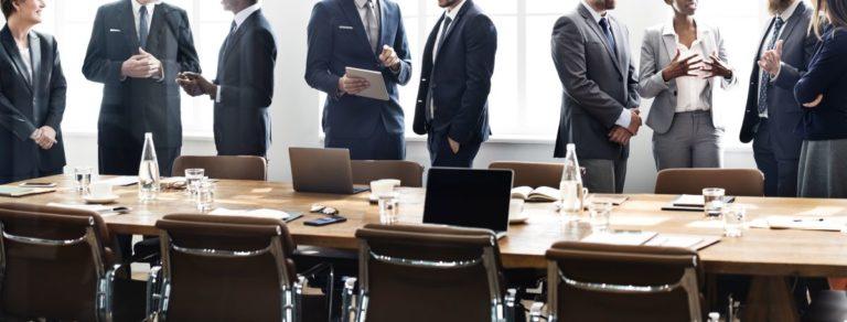 business men after a meeting